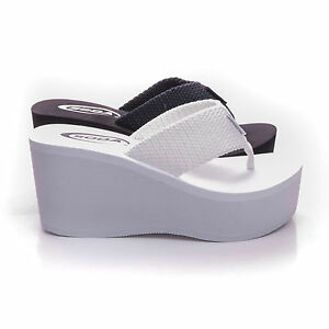 New Womens Sandals Wedge Shoes Platform Heels Thong Flip Flops Soda OXLEY-S