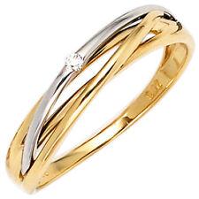 Normal behandelte Echtschmuck-Ringe mit Diamant für Damen