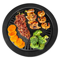 BBQ GRILL Smokeless Indoor STOVETOP Barbeque Kitchen Barbecue Pan Griddle