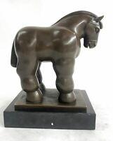 Fernando Botero 'Horse' Modern Abstract Design Collectible Bronze Sculpture Sale
