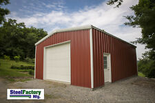 Steel Factory Mfg 20x20x9 Galvanized Metal Storage Steel Garage Building Kit
