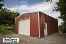 Steel Factory Prefab 20x24x8 Galvanized Metal Storage Garage Steel Building Kit