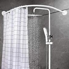 90*90CM Bathroom Aluminum Alloy Round Curved Bath Pole Shower Curtain Rail Rod