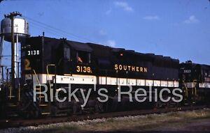 Original Slide SOU #3138 EMD SD45 Southern Railway Centralia IL 1984