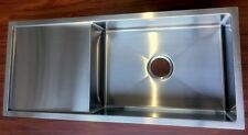 Contemporary Square Undermount Kitchen Single Sink with Drainer Board