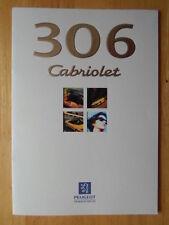PEUGEOT 306 Cabriolet orig 1997 UK market sales brochure prospekt - Convertible