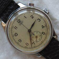 Casa Escasany Chronograph mens wristwatch nickel chromiun case 33 mm in diameter