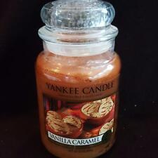 Yankee Candle Retired Vanilla Caramel Food Lg 22 oz White Label Rare Food Baking