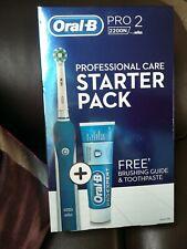 Nuevo Y En Caja Oral-B Pro 2 2200N Braun Profesional Cuidado Starter Pack RRP £ 80