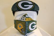CYCLING CAP GREEN PACKERS  W/ FACE MASK 100 % HANDMADE IN USA L M S