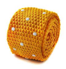 Frederick Thomas tricoté mince jaune vif OR & Blanc