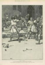 1890-ANTIQUE PRINT Fine Art Merveilleux Aventures Phra phénicien Paget (157)