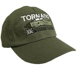 PANAVIA TORNADO MODERN RAF FIGHTER AIRCRAFT  ADJUSTABLE GREEN BASEBALL CAP.