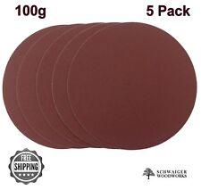 """8"""" inch Sanding Disc, 100 grit, 5 Pack, Peel & Stick, AL Oxide for Disc Sanders"""