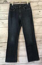 Nine West Jeans Size 10 Dark Wash Boot Cut Embroidered High Waist Stretch 29