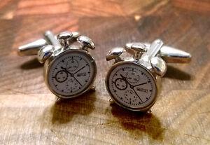 Mens Cufflinks - French Clock