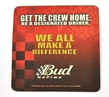 Budweiser Bud Racing USA Beer Bier Bierdeckel Untersetzer Coaster sous-bock