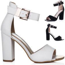 Unbranded Buckle Block Heel Sandals for Women