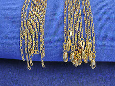 1PCS 16-30inch Fashion Jewelry 18K Gold Filled Necklaces Figaro Chains Pendants