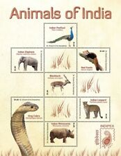 Saint Vincent 2011 - INDIPEX - Animals Of India - Sheet of 7 Stamps - MNH