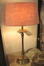 Elegante Lámpara de Mesa, Pantalla Rosa Base la Oro 49cm Nuevo Luz