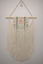 Macrame Wall Hanging, Coton Naturel Cordon 4 Mm, homedecor, 48 cm large, 104 cm de long
