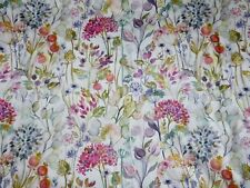 VOYAGE MAISON CURTAIN FABRIC 21 METRES Country Hedgerow Lotus Linen FLORAL