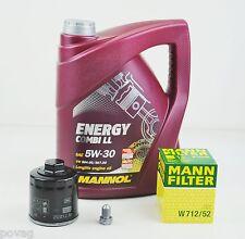 5L MANNOL Energy Combi LL 5W-30 Longlife MANN Ölfilter Audi A2 A3 VW POLO GOLF4