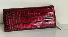 NEW! KENNETH COLE REACTION RED ELONGATED CLUTCH WALLET W/ COIN PURSE $50 SALE