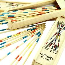 Baby Education Wooden Traditional Mikado Spiel Pick Up Sticks With Box Game AL