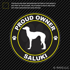 Proud Owner Saluki Sticker Decal Self Adhesive Vinyl dog canine pet
