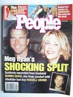 MEG RYAN  July 17, 2000 People Magazine  RUSSELL CROWE  WALTER MATTHAU