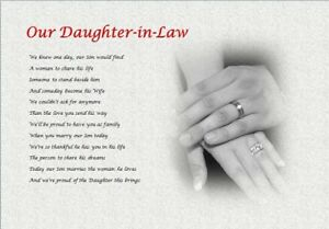 Daughter-in-Law GIFT (WEDDING DAY) - personalised gift