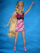 Guapa rubia Barbie y traje ~ Play/OOAK personalización ~ Lila Rayas en el pelo