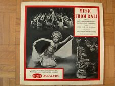 VINYL 33 T – WORLD MUSIC – MUSIC FROM BALI INDONESIA INDONESIE– ARGO RECORDS