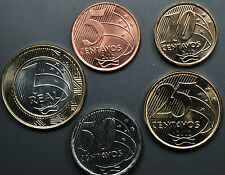 BRAZIL 1 SET OF REAL COINS - EURO PATTERN - UNCIRCULATED 2012