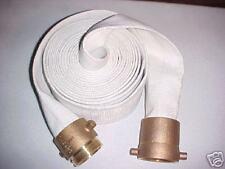 """Fire Hose 2-1/2"""" X 100' w/ Brass Couplings"""