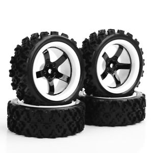 4X 1/10 RC Rally Tires and Wheel Rim D5NWK For HSP HPI 1:10 Off Road Racing Car