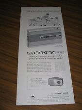 1959 Print Ad Sony TR 810 Portable 8-Transistor Radios Football Cartoon