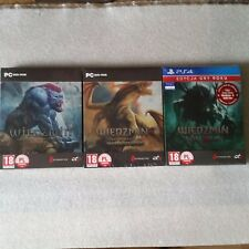 The Witcher 1 PC 2 PC & 3 - Steel Case PS4 STEELBOOK G2  Exclusive READY TO SEND