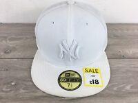 New Era 59Fifty NY New York Yankees Mens Cap White Size XL 7 1/2 - 59.6cm S113-5