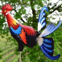 Rooster Windmill Garden Courtyard Farm Decor Handcraft Rostalgie Chicken Statues