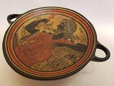 Zeus Greek God Rare Hellenic Ancient Art Pottery Tray Aged Kylix