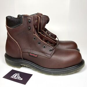Red Wing 2406 SuperSole 2.0 6-Inch Safety Toe Brown Leather Oil Resistant Boots