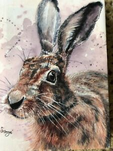 BN BREE MERRYN HARE canvas RABBIT MOUNTED new COLLECTABLE