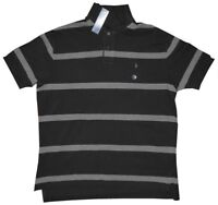 NEW RARE RALPH LAUREN POLO RL BLACK & GRAY COTTON POLO RUGBY SHIRT XL