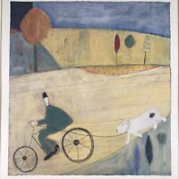 Annora Spence Art Print Walking the Dog 1993 Matted