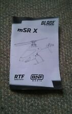 043 Blade mSR X RTF Helicopter Instructions Manual