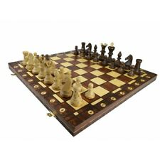 Beautiful Handcrafted  Wooden Chess Set AMBASSADOR, 55x55 cm Renowned Brand