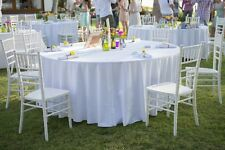 """10 Packs Round WHITE 120"""" Inch Polyester Tablecloths 5' feet Table Cover Quality"""